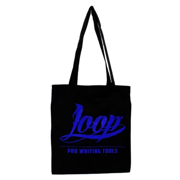 Loopcolors Stoffbeutel Logo Loop - Schwarz Blau